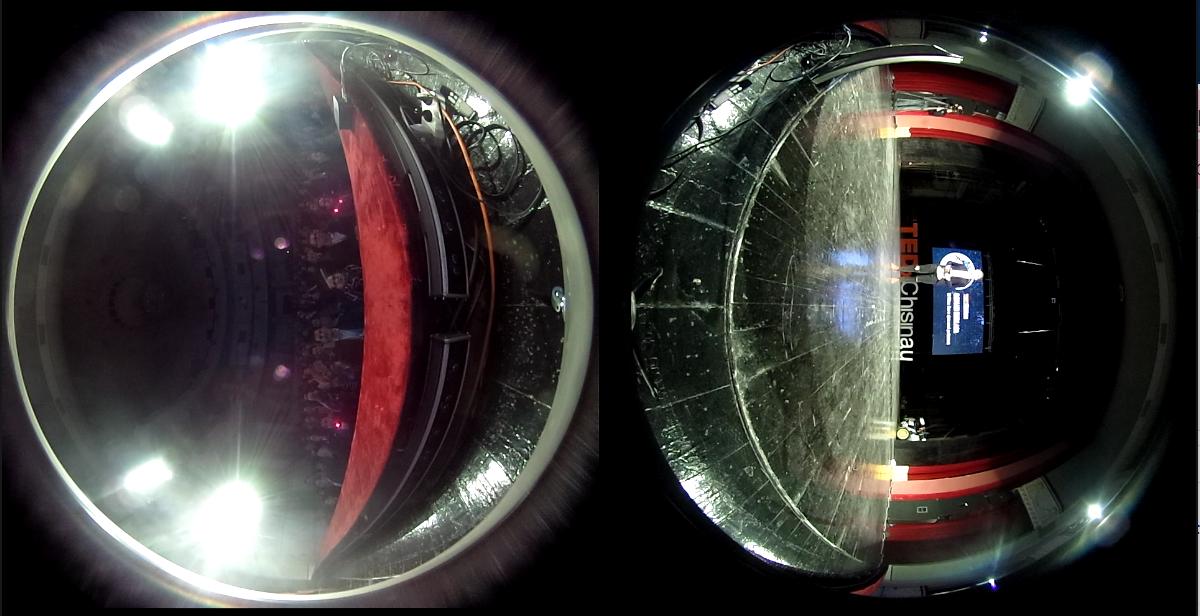 Filmare dual-fisheye
